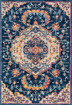 United Weavers Abigail 713 20568 Ulani Midnight Blue Area Rug with Pantone Spring/Summer Colors