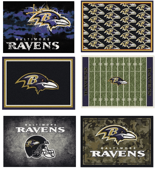 NFL Team Area Rugs - The Ravens
