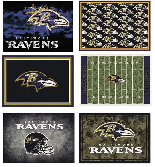 NFL Team Area Rugs - The Ravens