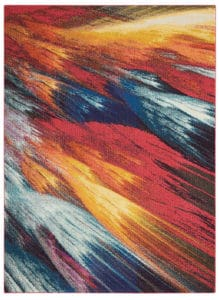 Nourison Celestial CES05 Burst Area Rug with Pantone Spring/Summer Colors