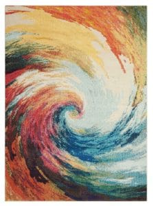 Nourison Celestial CES07 Wave Area Rug with Pantone Spring/Summer Colors