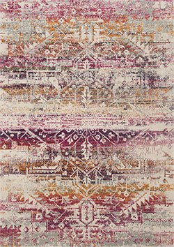 Loloi Zehla ZL-01 Sunset/Ivory Area Rug with Pantone Spring/Summer Colors